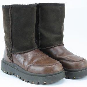 Skechers Outdoor Womens Boots Sherpa Leather BT08